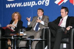 Lesley MACAULAY, Bill MANWARING, and Kenny DONALDSON @UUPonline (c) Allan LEONARD