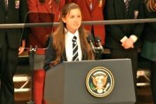 Hannah NELSON delivers speech (c) Allan LEONARD @MrUlster