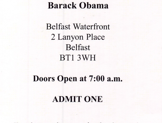 The fate of peace – President Obama in Northern Ireland