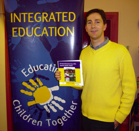 Allan Leonard at office of Northern Ireland Council for Integrated Education (NICIE)