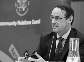 Mark BROWNE (OFMdFM). Conference: One Place - Many People, Community Relations Council, Stormont Hotel, Belfast, Northern Ireland. @NI_CRC #CRWeek15