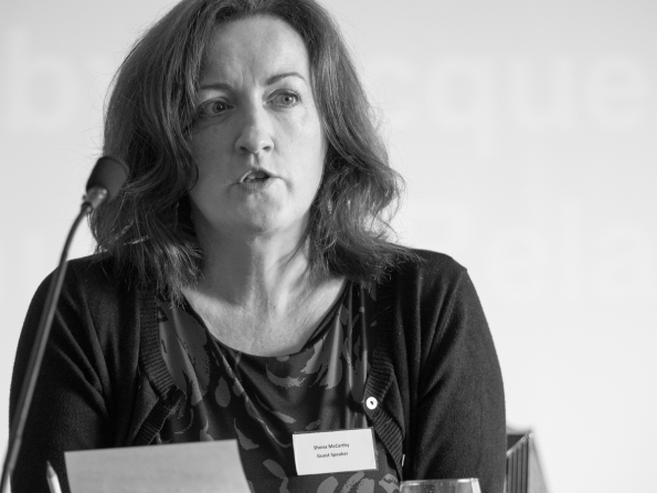 Shona McCARTHY (Shona McCarthy Consulting) @ShonaMMcCarthy. Conference: One Place - Many People, Community Relations Council, Stormont Hotel, Belfast, Northern Ireland. @NI_CRC #CRWeek15