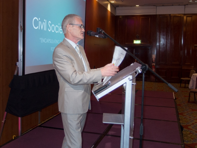 Liam MASKEY. Civil Society Network launch, Europa Hotel, Belfast, Northern Ireland. #CivilSocietyNetwork