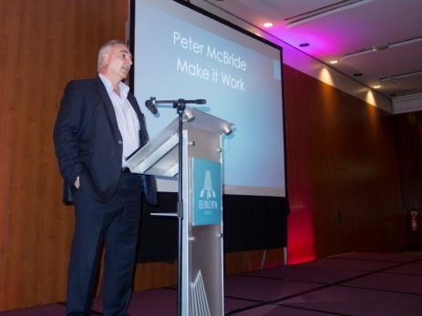Peter McBRIDE (Make It Work). Civil Society Network launch, Europa Hotel, Belfast, Northern Ireland. #CivilSocietyNetwork