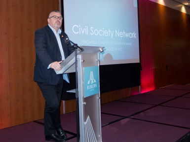 Jackie POLLOCK (ICTU). Civil Society Network launch, Europa Hotel, Belfast, Northern Ireland. #CivilSocietyNetwork