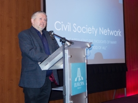 Fr Gary DONEGAN (Holy Cross Ardoyne). Civil Society Network launch, Europa Hotel, Belfast, Northern Ireland. #CivilSocietyNetwork