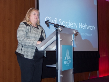 Patricia LEWSLEY. Civil Society Network launch, Europa Hotel, Belfast, Northern Ireland. #CivilSocietyNetwork