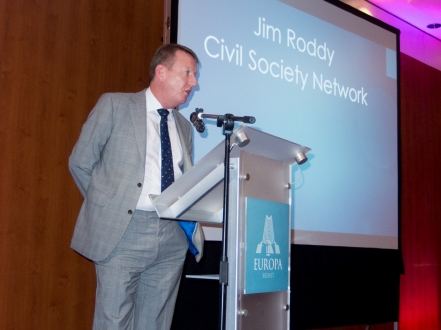 Jim RODDY. Civil Society Network launch, Europa Hotel, Belfast, Northern Ireland. #CivilSocietyNetwork