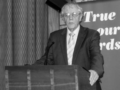 Sean FARREN. John Hume: Irish Peacemaker book launch, Canada Room, Queen's University Belfast, Northern Ireland.