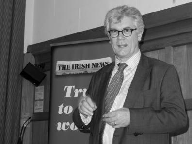 Tony GALLAGHER. John Hume: Irish Peacemaker book launch, Canada Room, Queen's University Belfast, Northern Ireland.