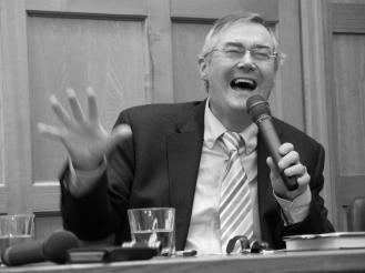 Eamon PHOENIX. John Hume: Irish Peacemaker book launch, Canada Room, Queen's University Belfast, Northern Ireland.