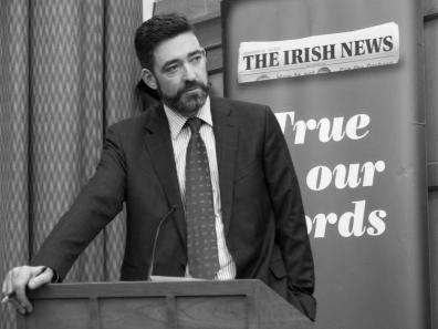 Jim FITZPATRICK. John Hume: Irish Peacemaker book launch, Canada Room, Queen's University Belfast, Northern Ireland.