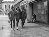 Passers by, Donegall Place, Belfast, Northern Ireland.