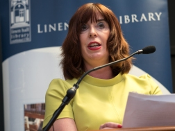 Julie ANDREWS (Director, Linen Hall Library). Divided Society digitisation project launch. Linen Hall Library, Belfast, Northern Ireland. @TheLinenHall