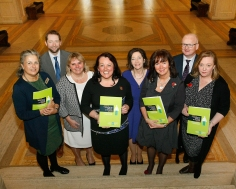 Julia SCOTT, Eddie LYNCH, Karin BISHOP, Paula BRADLEY MLA, Kate LESSLAR, Patricia McCLURE, Sean McGOVERN, and Catherine McLAUGHLIN