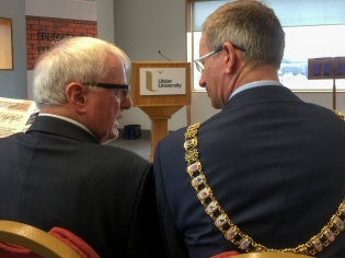 Alistair ADAIR (Ulster University) and Brian KINGSTON (Lord Mayor of Belfast) (c) Allan LEONARD @MrUlster
