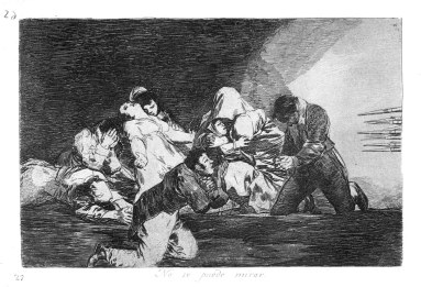 No se puede mirar (One cannot look at this) Francisco GOYA.