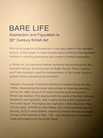 Bare Life. Abstraction and Figuration in 20th Century British Art.
