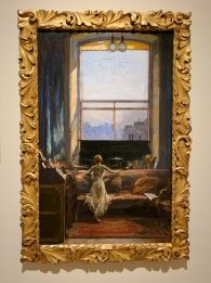 Daylight Raid from my Studio Window, 7 July 1917, by Sir John LAVERY.