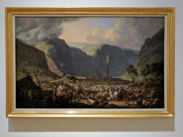 The Festival of St Kevin, Glendalough (1813) by Joseph PEACOCK.