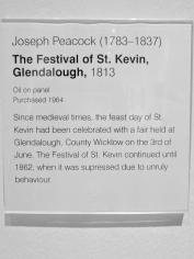 The Festival of St Kevin, Glendalough (1813) by Joseph PEACOCK.