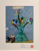 Ellie's Drawing of a Vase of Flowers (2016) by Ellie GIBLIN. Texaco Children's Art.