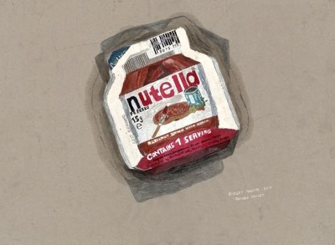 Nutella Sachet (2016) by Robert MADDEN.