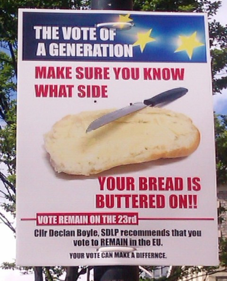 Make sure you know what side your bread is buttered on