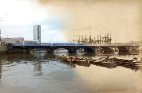 Queen's Bridge, Belfast: 1888 & 2014.