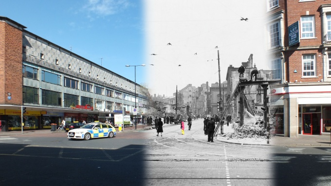 Then & Now: Belfast Blitz