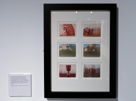 Rules against inmates having access to cameras were frequently flouted, as demonstrated by these clandestine photographs, taken in Loyalist compounds at Long Kesh prison and internment camp on three separate occasions in the early 1970s. Ulster Museum, Belfast, Northern Ireland.