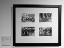 Clockwise: Rebuilding Bombay Street, Belfast, 1970; Army Checkpoint, Skipper Street, Belfast, 1972; Milk Distribution in Belfast during the Ulster Workers' Council strike, 15-28 May 1974; Male and Female Security Gates, Castle Lane, Belfast, 1973. Bill KIRK. Ulster Museum, Belfast, Northern Ireland.