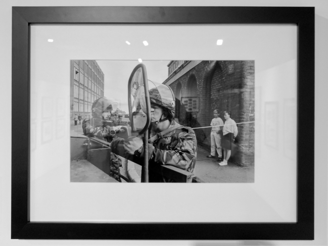 The power and focus of French photographer Gilles PERESS's work created a landmark in the history of photography when his continuums of images of events during the 'Bloody Sunday' shootings in Derry-Londonderry in February 1972 were used as forensic evidence in subsequent inquiries. Gilles PERESS. Ulster Museum, Belfast, Northern Ireland.