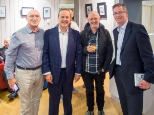 Bill SHAW (174 Trust), Tony MACAULAY, John ROSBOROUGH (Broadcaster), and James TOLAND (former youth worker) (c) Allan LEONARD @MrUlster