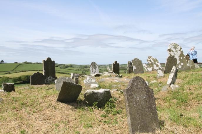 """Slans Graveyard. Ballywalter. (c) Elaine McFEETERS; Cradle Song for Eleanor (Louis MacNEICE): """"Sleep, my darling, sleep."""""""