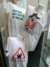 Political t-shirts.