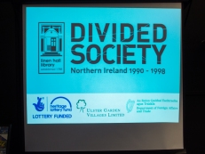 "Divided Society: Northern Ireland 1990-1998. Exhibition launch: ""We Lived It: The Social Impact of the Troubles"", Divided Society project, Linen Hall Library, Belfast, Northern Ireland. (c) Allan LEONARD @MrUlster"