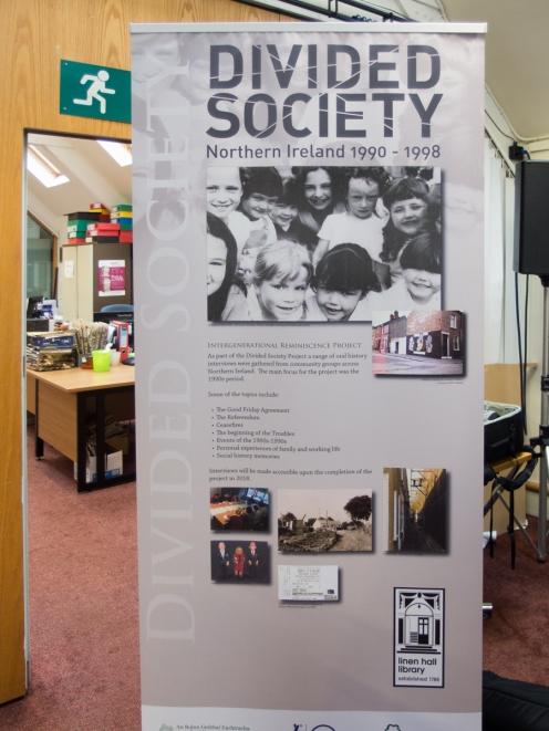 Banner: Divided Society: Northern Ireland 1990-1998.
