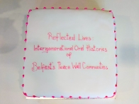 Cake: Reflected Lives: Intergenerational Oral Histories of Belfast's Peace Wall Communities. @BIP_Interfaces (c) Allan LEONARD @MrUlster